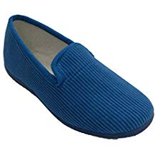 Zapato de pana plano
