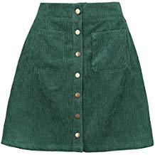Falda de pana minifalda verde
