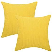 Fundas para cojines de pana amarillas